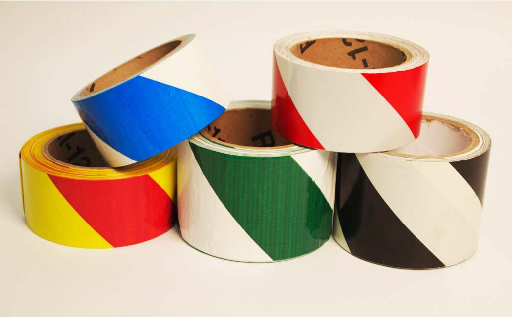 Stripe Safety Tape Black/White - Roll