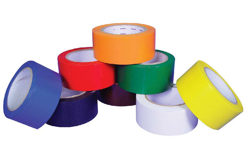 Solid Color Safety Tape White - Roll
