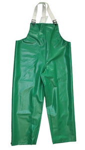 Tingley 3X Green Safetyflex 17 mil PVC And Polyester Rain Bib Overalls With Hook And Loop Closure
