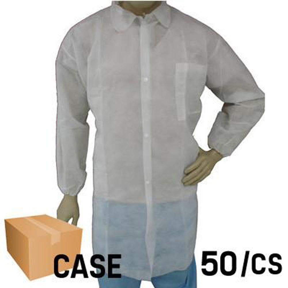 EPIC- Lab Coat with Elastic Wrist and Front Pocket - Case
