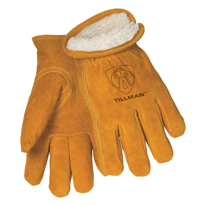 Tillman Brown Leather Pile Lined Cold Weather Gloves