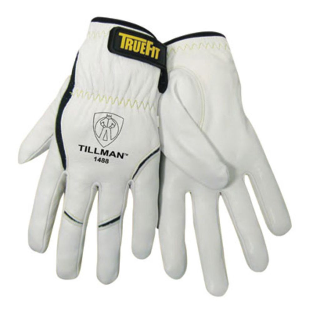Tillman TrueFit X-Large Top Grain Kevlar And Goatskin Super Premium Grade TIG Welders' Glove With Elastic Cuff, V Design Thumb And Hook And Loop Closure