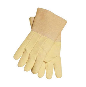 "Tillman X-Large 14"" Yellow Flextra Heat Resistant Gloves With Gold Acrylic Coated Fiberglass Gauntlet Cuff And Kevlar Thread"