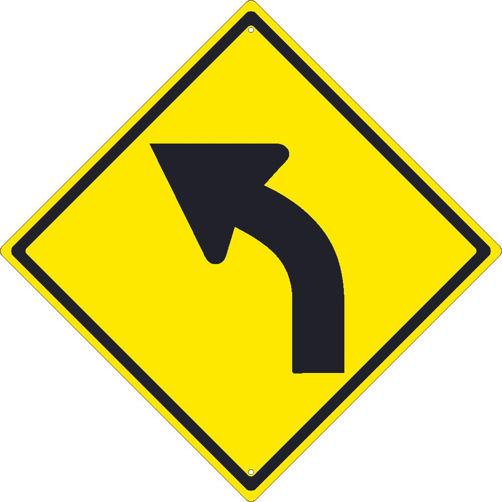 Left Arrow Traffic Sign