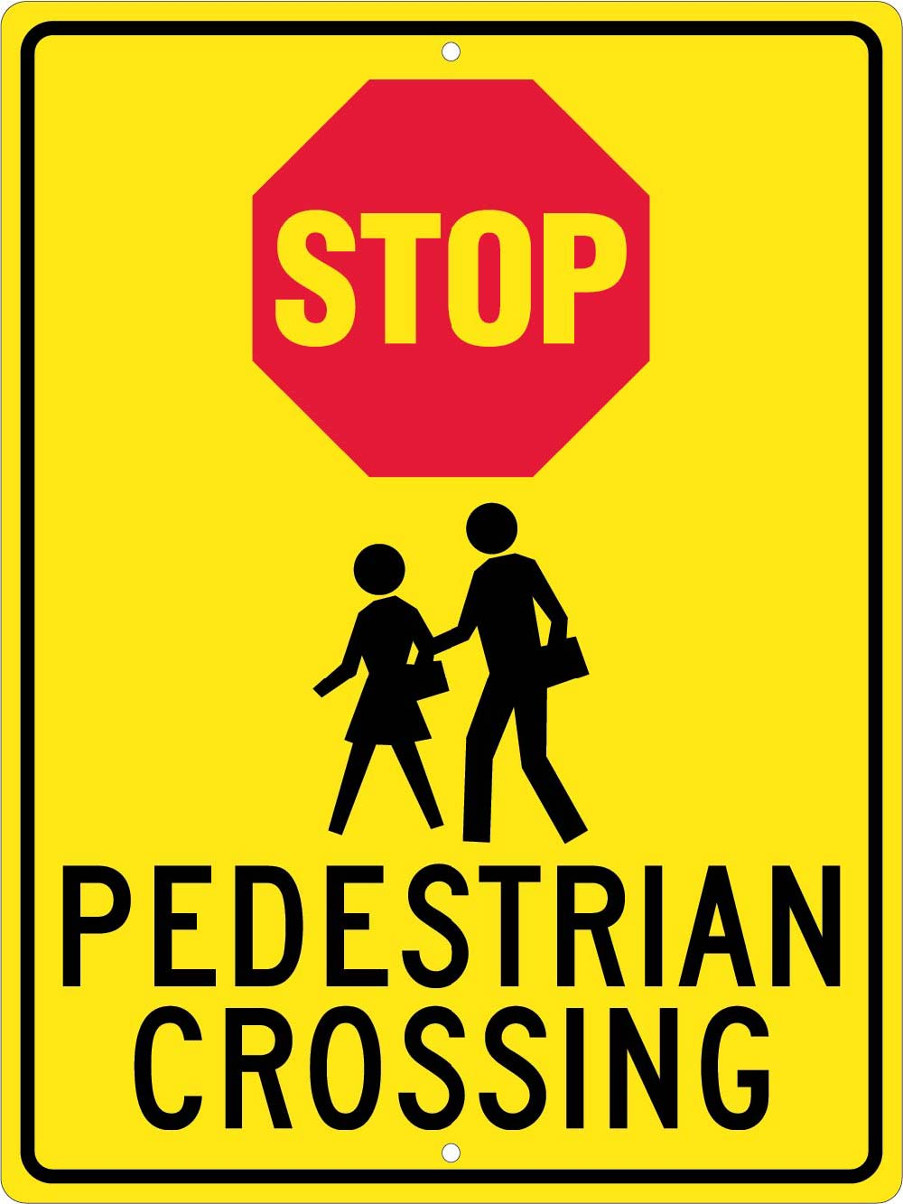 Stop Pedestrian Crossing Sign