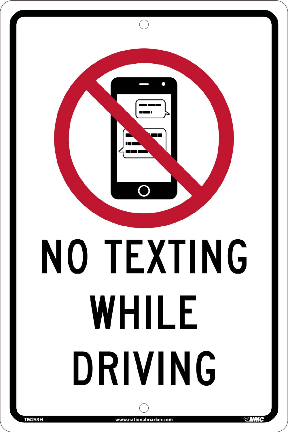No Texting While Driving Traffic Sign Traffic Sign