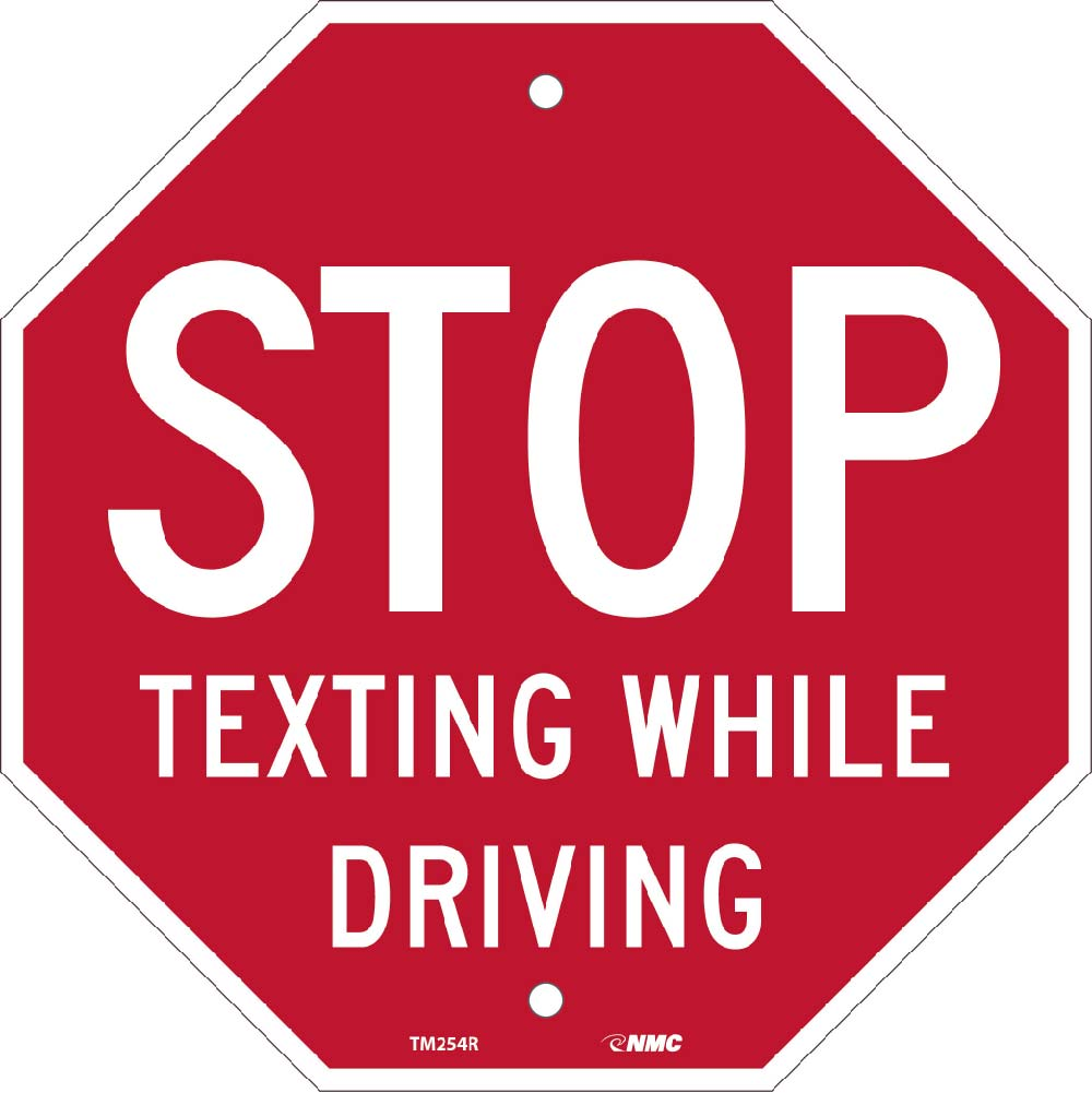 Stop Texting Stop Sign Traffic Sign