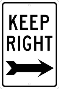 Keep Right Sign