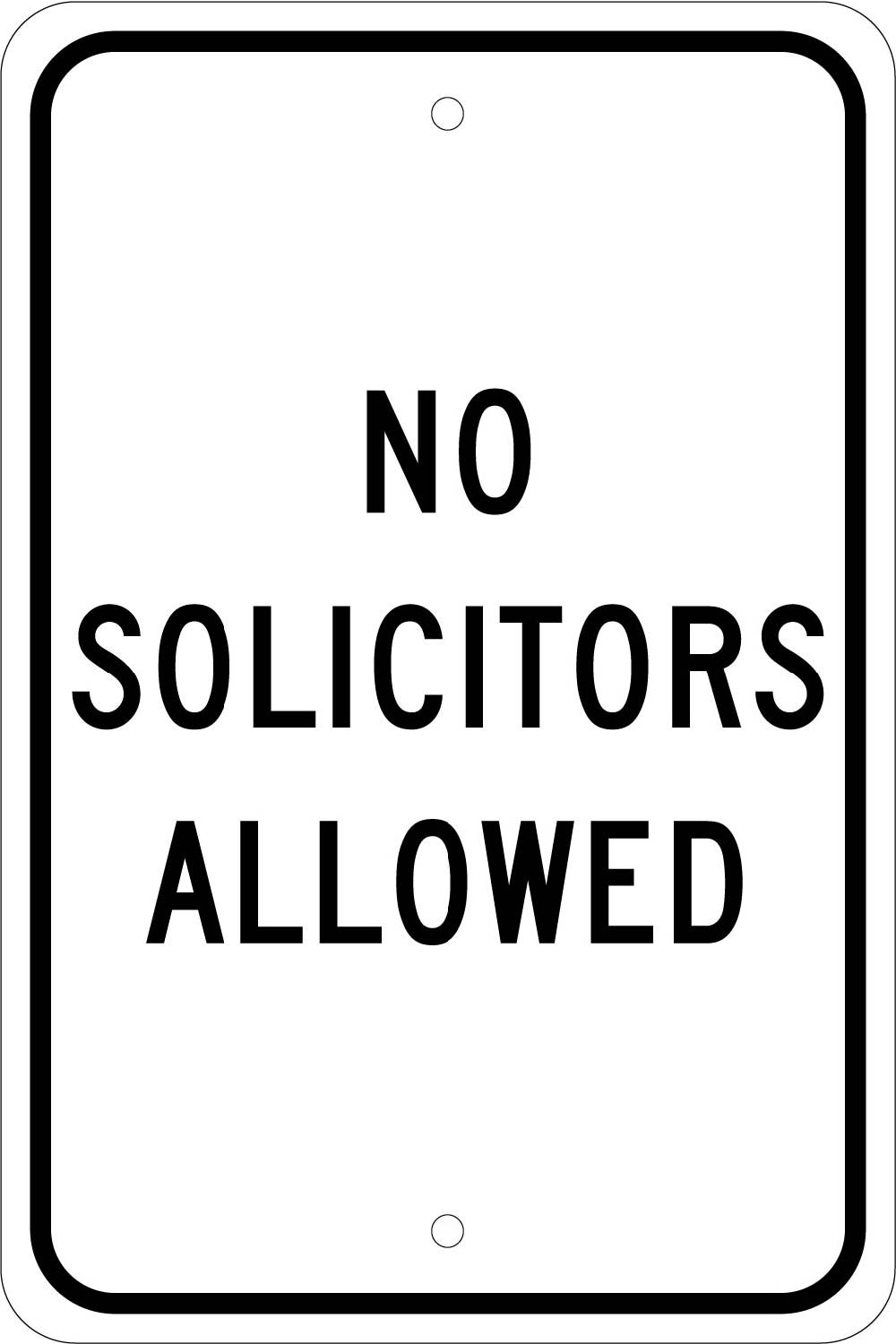No Solicitors Allowed Sign