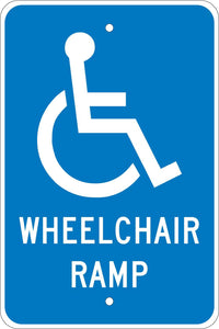 Wheelchair Ramp Sign