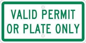 Handicapped Parking New York Valid Permit Or Plate Only Sign