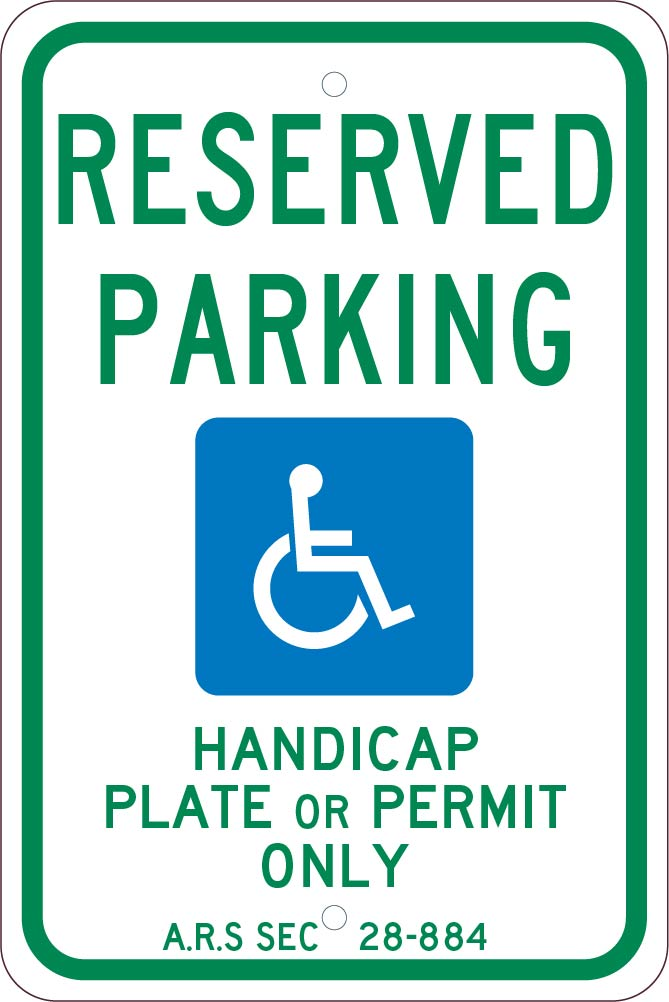 State Handicapped Parking Arizona Sign