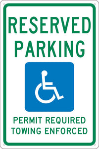 State Handicapped Parking Arkansas Sign