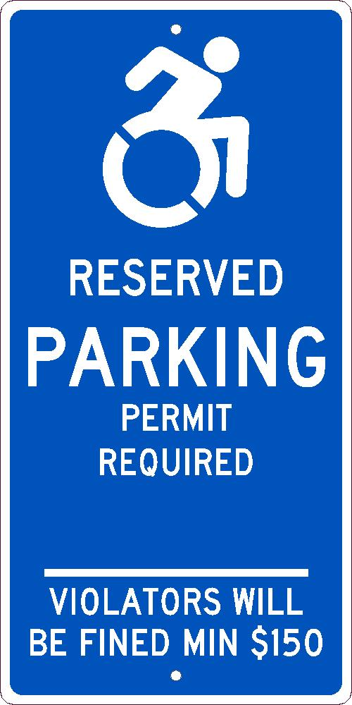 State Handicapped Parking Permit Connecticut Sign