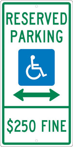 State Handicapped Reserved Parking Illinois Sign