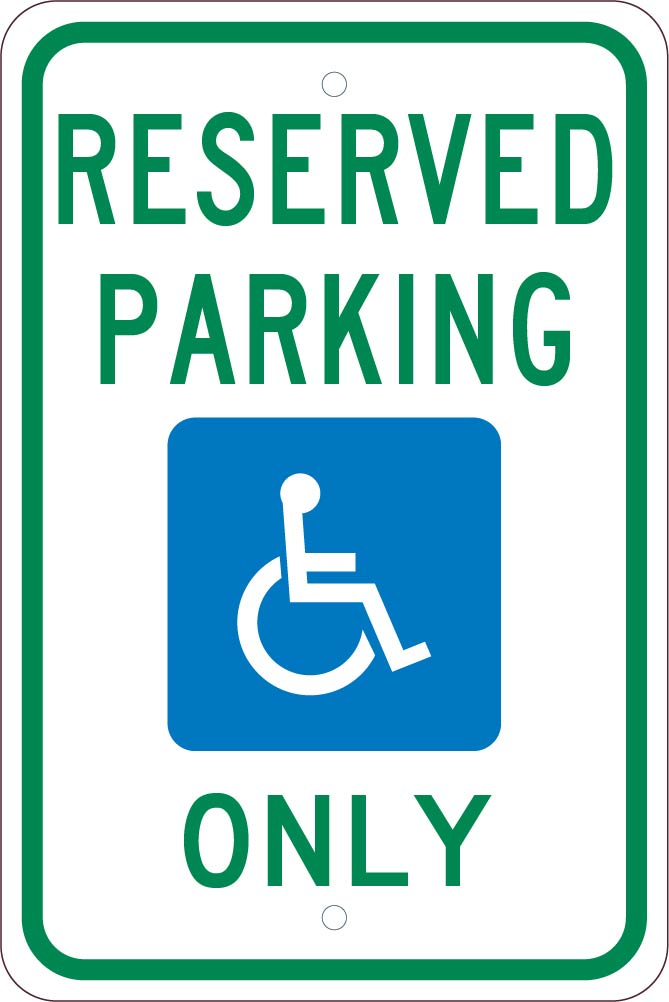 State Handicapped Reserved Parking Michigan Sign