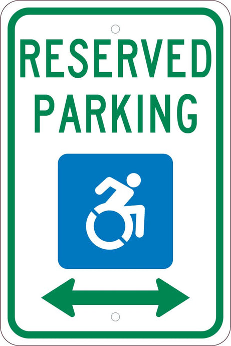 State Handicapped Reserved Parking Sign New York