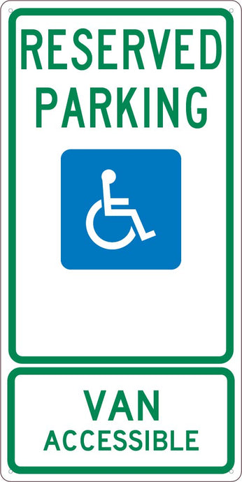 State  Handicapped  Reserved Parking Van Accessible Sign Texas