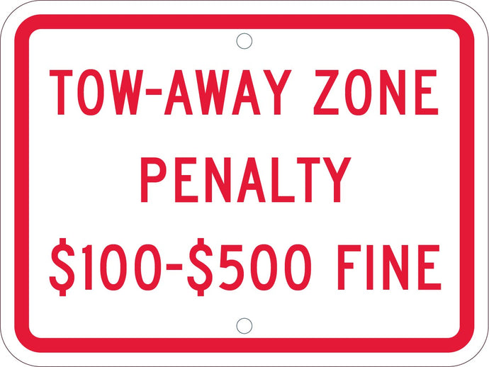 Tow-Away Zone Penalty Handicapped Parking Sign Virginia
