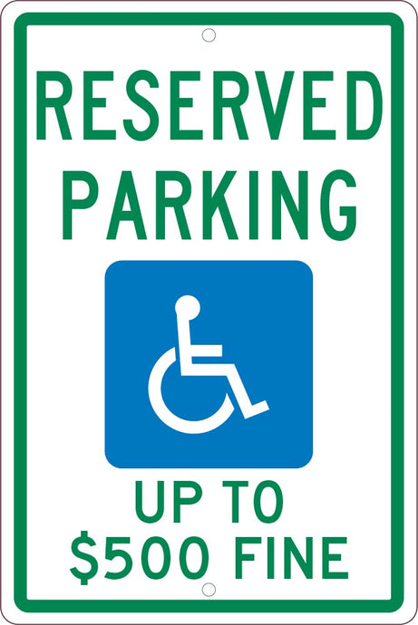 State  Handicapped  Reserved Parking Sign West Virginia