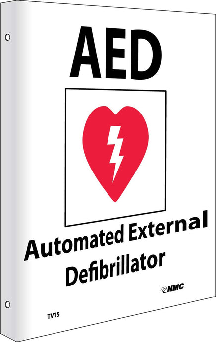 2-View Aed Automated External Defibrillator Sign