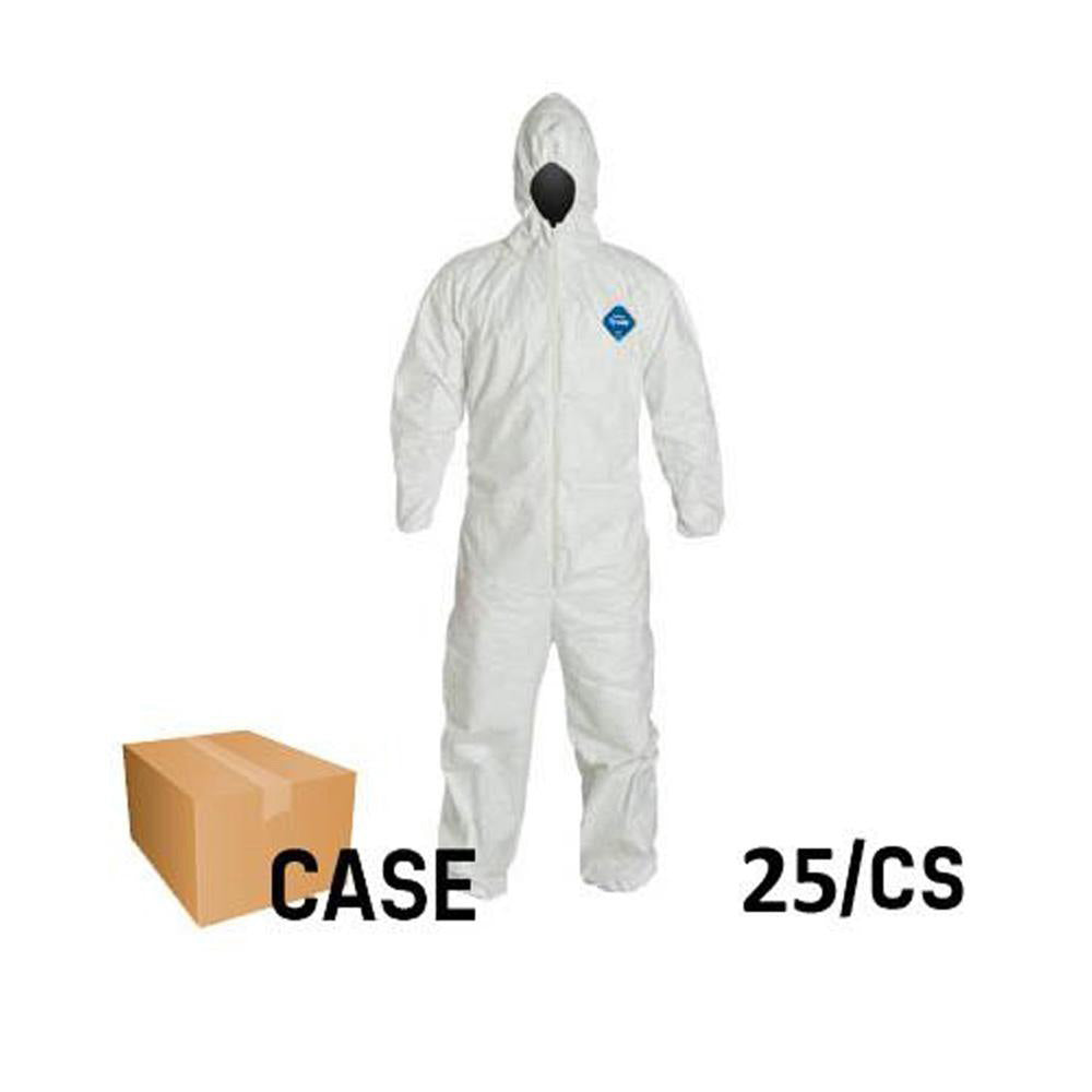Dupont - Tyvek Disposable Elastic Coveralls with Hood - Case