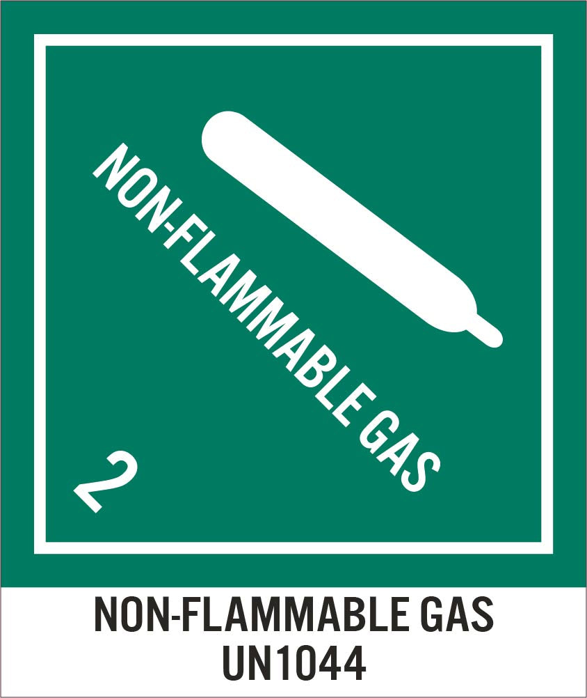 Non-Flammable Gas 2 Un1044 Label - Roll