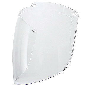 "Uvex by Honeywell Turboshield 9"" X 15 7/8"" X 3/32"" Clear Polycarbonate Anti-Fog Hard Coated Faceshield For Use With Turboshield Headgear and Hardhat Adapter Only"