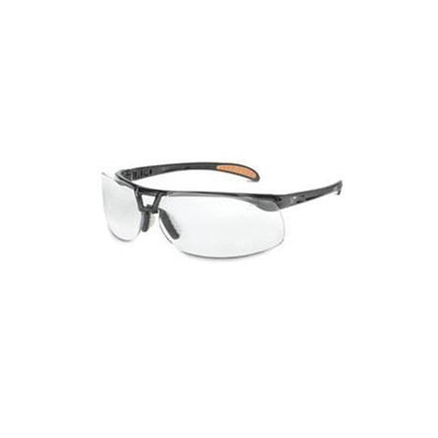 44321e93e9 Uvex By Honeywell Uvex Protege Safety Glasses With Black Frame And Clear  HydroShield Anti-Fog