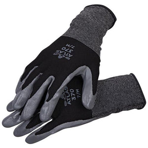 Atlas Gray Nitrile Grip Coated Work Glove (Black or Assorted Color)