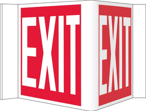 3-View Exit Sign