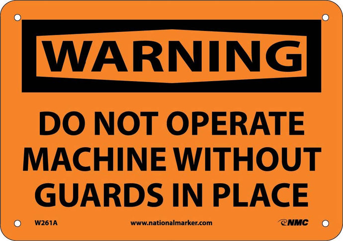 Warning Do Not Operate Machine Sign