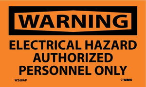 Warning Electrical Hazard Label - 5 Pack