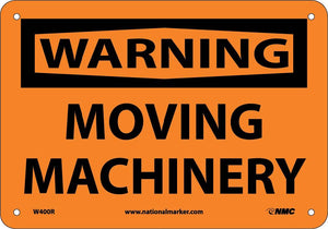 Warning Moving Machinery Sign