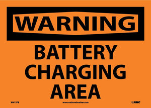 Battery Charging Area Sign