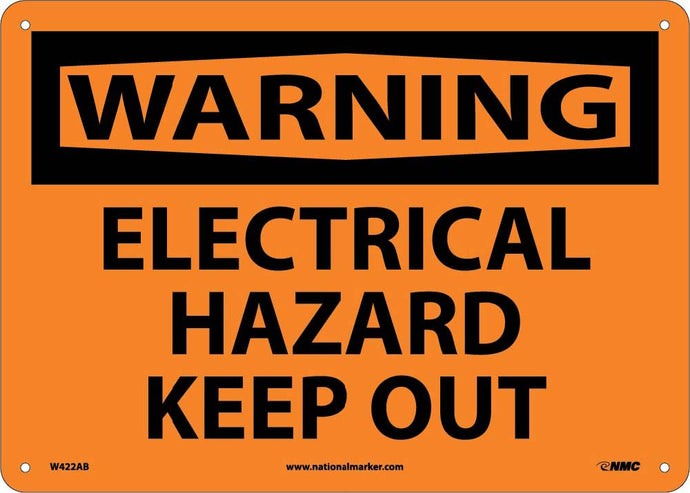 Warning Electrical Hazard Keep Out Sign