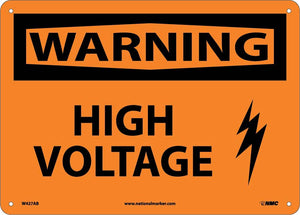 Warning High Voltage Sign