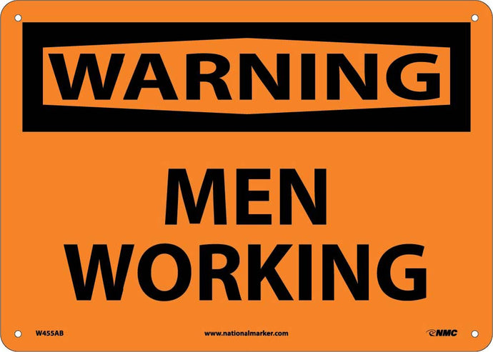 Warning Men Working Sign