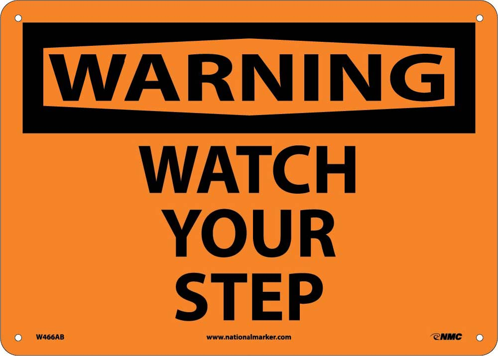 Warning Watch Your Step Sign