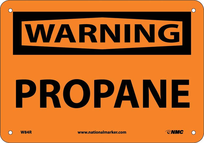 Warning Propane Sign