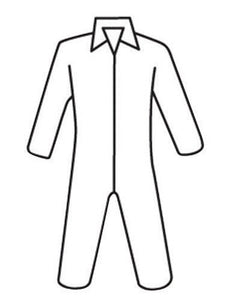 West Chester 2X White PosiWear M3 5-Layer SSMS Polypropylene Disposable Basic Breathable Advantage Coveralls With Full Length Front Zipper Closure, Collar And Elastic Waistband