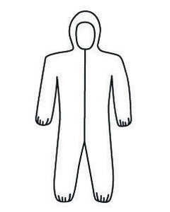 West Chester 2X White PosiWear M3 5-Layer SSMS Polypropylene Disposable Breathable Advantage Coveralls With Front Zipper Closure, Elastic Waistband, Attached Boots And Hood, Elastic Ankles And Wrists