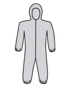 West Chester 3X Gray PosiWear M3 5-Layer SSMS Polypropylene Disposable Breathable Advantage Coveralls With Front Zipper Closure, Elastic Waistband, Attached Hood, Elastic Ankles And Elastic Wrists