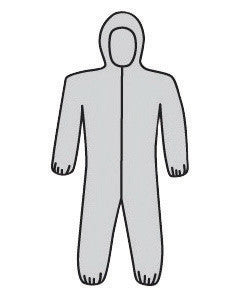 West Chester Large Gray PosiWear M3 5-Layer SSMS Polypropylene Disposable Breathable Advantage Coveralls With Front Zipper Closure And Elastic Waistband