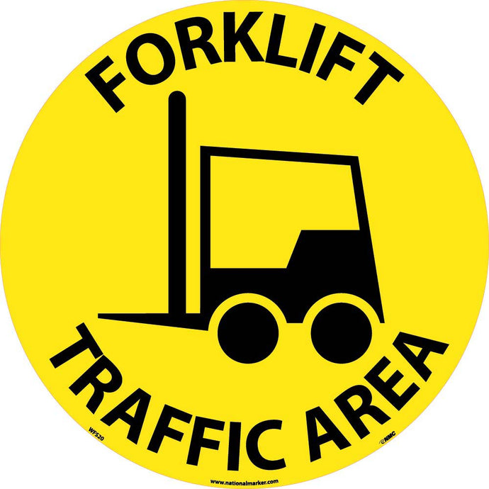 Forklift Traffic Area Walk On Floor Sign