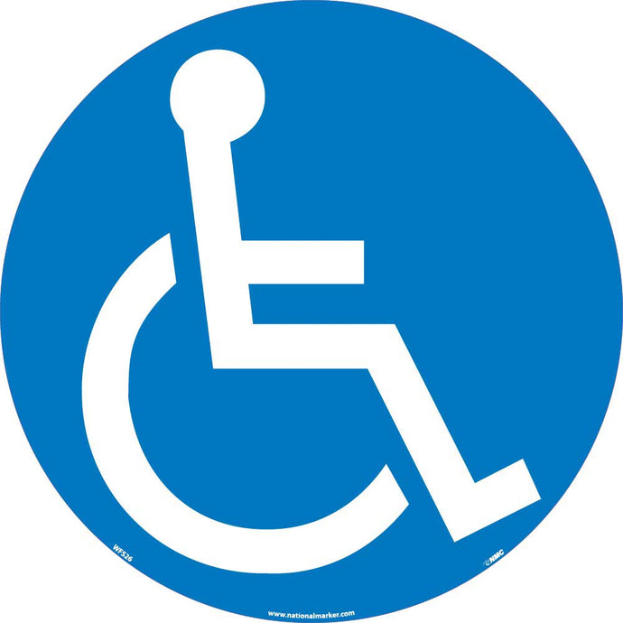 Handicapped Symbol Walk On Floor Sign