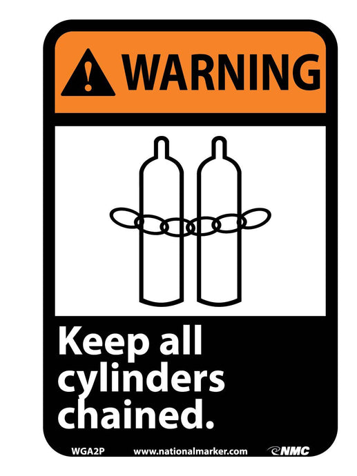 Warning Keep All Cylinders Chained Sign
