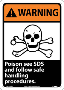 Warning Poison Follow Safety Procedures Sign