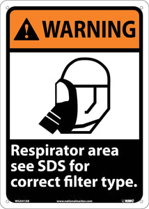 Warning Respirator Area Instructions Sign