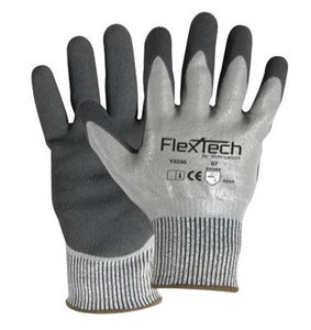 Wells Lamont Large Gray And Black FlexTech 13 gauge Light Weight HPPE Dipped Cut Resistant Gloves With Knitwrist And Thermal Lining